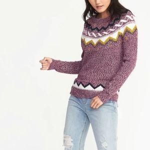 Old Navy Fair Isle Winter Sweater